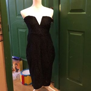 Ladies strapless dress size large nwt